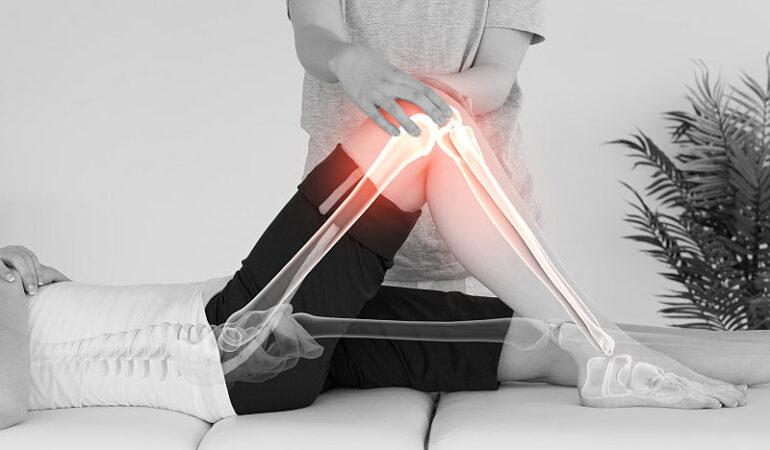 Physiotherapie Mensch Knie